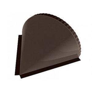 Заглушка конька полукруглого конусная Velur RR 32 темно-коричневый