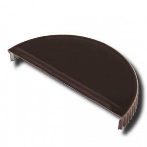 Заглушка торцевая  для конька полукруглого Velur 32 темно-коричневый