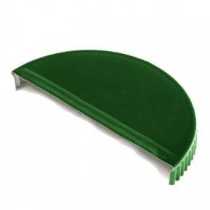Заглушка торцевая  для конька полукруглого Velur 6005 Зеленый