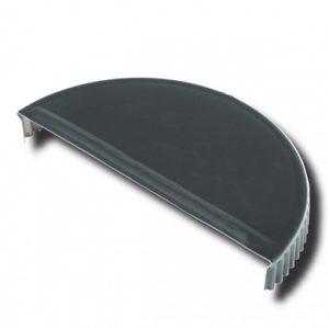 Заглушка торцевая  для конька полукруглого Velur 7024 серый