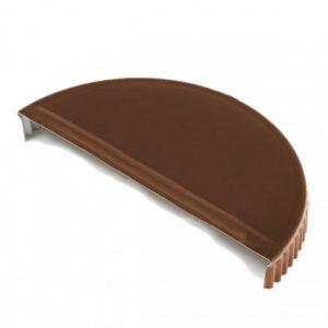Заглушка торцевая  для конька полукруглого Velur 8017 коричневый