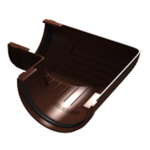 Угол желоба 90гр. универсал. ПВХ Grand Line Стандарт RAL 8017 Шоколад