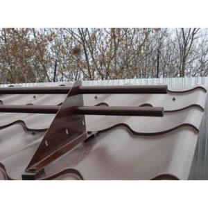 Снегозадержатель трубчатый на 3-х опорах 8019 темно-коричневый 3м Мет